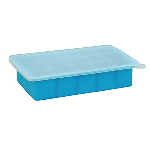 green sprouts Fresh Baby Food Freezer Tray  | Perfectly portioned for baby's first feedings | Clear lid for covering food & stacking trays, Flexible for easy removal, Dishwasher safe