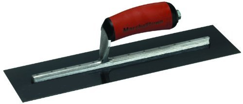 MARSHALLTOWN The Premier Line MXS244BD 24-Inch by 4-Inch Blue Steel Finishing Trowel with Curved DuraSoft Handle