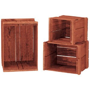 Heavy-Duty Nesting Crate Set, Cherry by Retail Resource