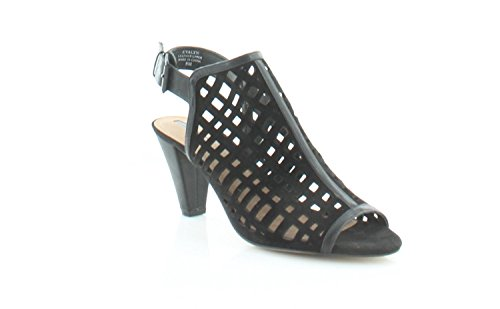 Sandals Womens Strappy Open Tahari Casual Black Evalyn Leather Toe R7q0OZwS