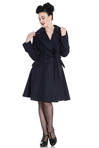 Para Hell Manga Mujer Bunny Larga Básico Marino Abrigo Azul qqTXz