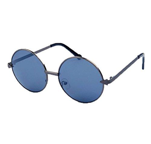 las de marco del Marco de del la polarizado Color de metal gafas la no redondo de flecha Pistola vendimia clásico de clásico Gris sol de Hippie La xIzdzq