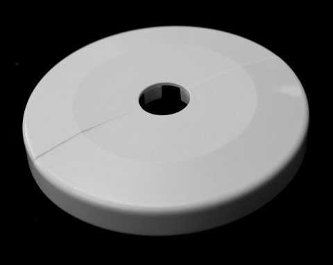 WEKON 12 Pcs embellecedor radiador pl/ástico collar tuberia Cubiertas blanco 15mm de di/ámetro calefaccion Tubo rosetones tubos