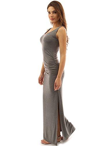 PattyBoutik Women Sleeveless Summer Maxi Dress (Heather Gray Medium)