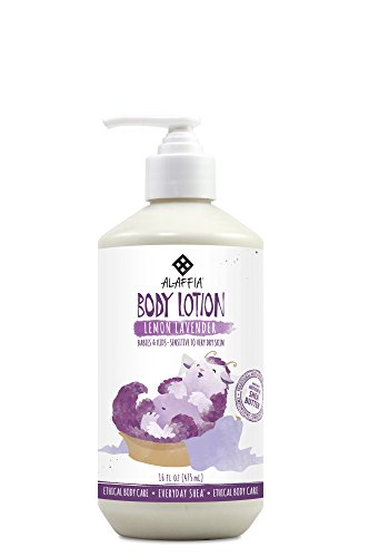 Gentle Baby Balm - Alaffia - Everyday Shea Body Lotion, Gentle for Babies and Up, Gently Helps Clean Skin and Calm Children with Shea Butter, Lemon Balm, and Lavender Oil, Fair Trade, Lemon Lavender, 16 Ounces