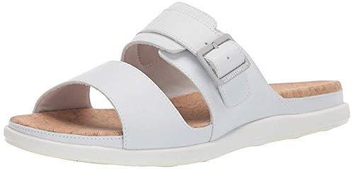 (CLARKS Women's Step June Tide Sandal White Synthetic 120 M US)