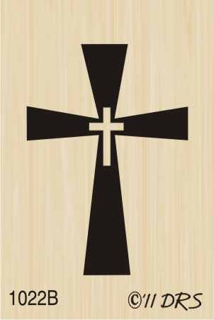 Cross in a Cross Rubber Stamp By DRS Designs