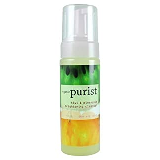 Organic Brightening Facial Cleanser by 100% Pure, Kiwi & Pineapple 6 oz