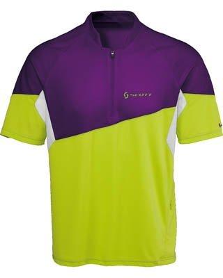 SCOTT Bikewear Mens Mind Shirt Short Sleeve Zip Neck Cycling Jersey 221576288100 (XL)