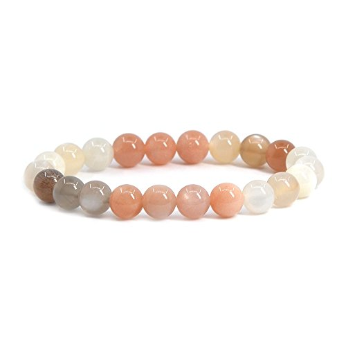 Natural AA Multicolor Sunstone Gemstone 8mm Round Beads