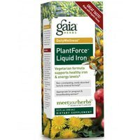 - Gaia Herbs Plantforce Liquid Iron, 16 oz (Pack of 2)
