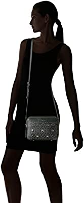 Calvin Klein Avery Pebble All-Over Pyramid Stud Embellished Camera Bag Crossbody