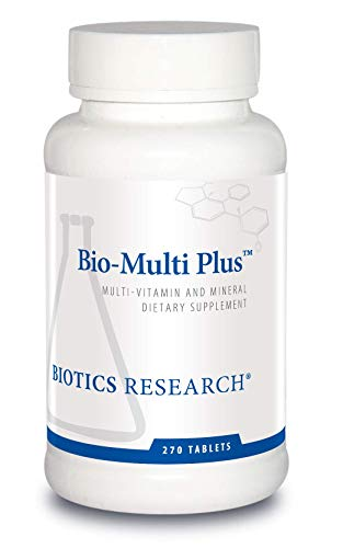 Biotics Research Bio-Multi Plus™ – Multivitamin, Chelated Minerals, Emulsified Fat-Soluble Vitamins, High antioxidants, SOD, Catalase 270 ct