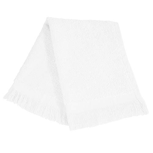 Fringed Towel 11x18 Fingertip - (12 Pack) Set of 12- Promotional Priced Fingertip Towels (White)