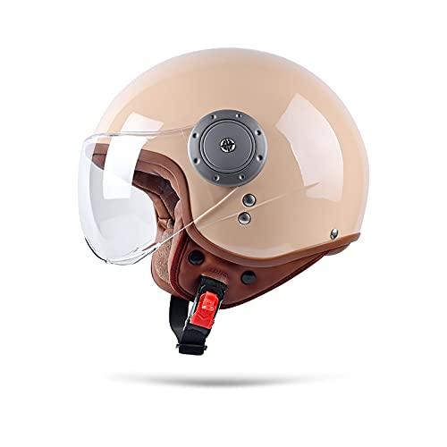BOSERMEM Erwachsenen Harley Motorradhelm Scooter-Helm, Mode Halboffener Helm Mit Schutzbrille, Hat Den…