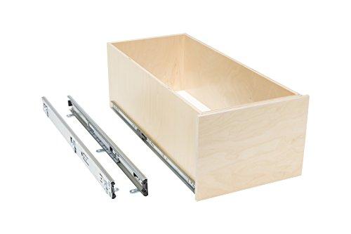 Slide-A-Shelf AMC-PL-BOX-12W22D8H-F Baltic Birch 8'' Box Slide-Out Shelf with Full Extension, 12'' x 22'' x 8'' by Slide-A-Shelf