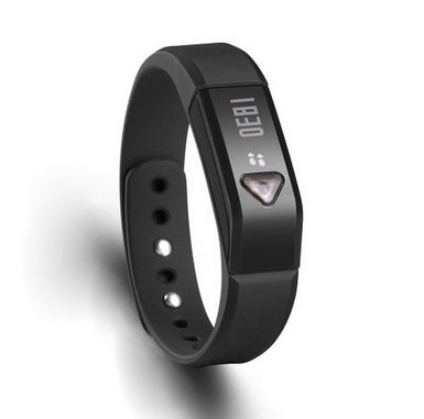 Bluetooth 4.0 Wrist Fitness Trackers Smart Bracelet Data Sync Pedometer Calorie Monitor Sleep Monitor Silent Vibration Alarm Health Wristband Compatible with iPhone App Store / PCs And Android Smartphones (Black Color) (Iphone App Store)