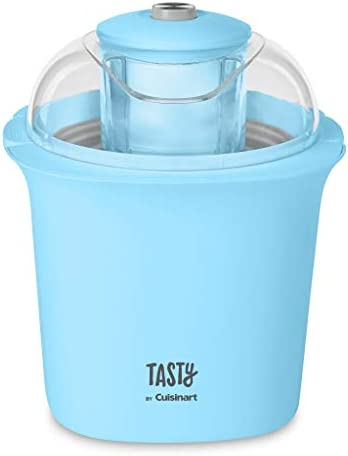 Cuisinart ICM100TBL Tasty Ice Cream Maker, 8.71″(L) x 8.71″(W) x 10.49″(H), Blue