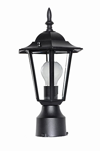 Black Cast Builder (Maxim 3001CLBK, Builder Cast, 1-Light Outdoor Pole/Post Lantern, Black)