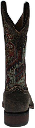 Boot Scout Leather Toe Cowgirl Laredo Square Taupe 5647 Women's 4Rwqzqv