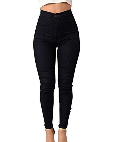 Lápiz Vaqueros Schwarz Mujer Cintura Huixin Pitillo Stretch Liso Para Pantalón Pantalones Color Elásticos Alta Exteriores De Ajustados B5xqaw5OS