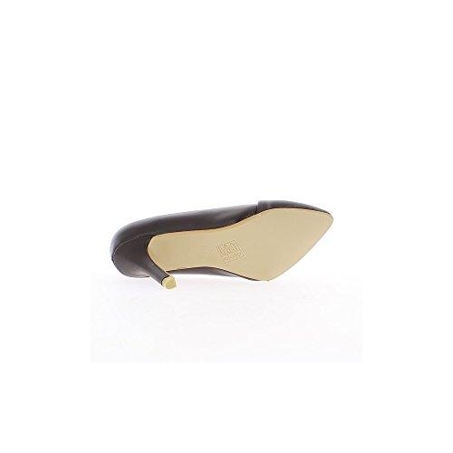 Escarpins marrons à talons fins de 8,5cm pointus
