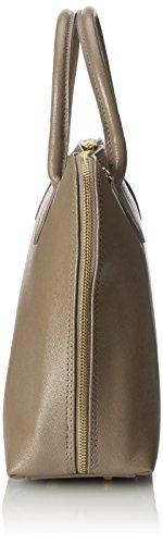 saffiano Donna stampa elegante 38x28x10cm 100 CTM Borsa Mano pelle Fango Made Vera in con a Italy Borsa da qwHzRE