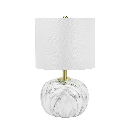 Faux Marble Glass Shades - Catalina Lighting Catalina Lighting 20948-000 Contemporary Round Marble Table Lamp, Shade, 18