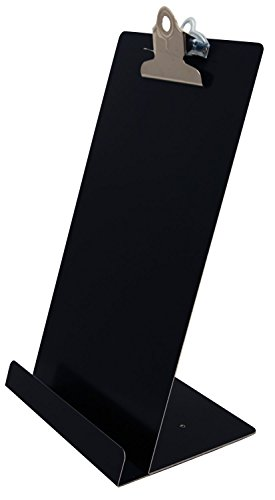 Saunders Free Standing Clipboard/Tablet Stand - Black - 'Memo' Size: 6.5'' x 12.25'' (22530) by Saunders