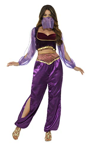 Smiffys Women's Arabian Princess Costume, Purple, Small
