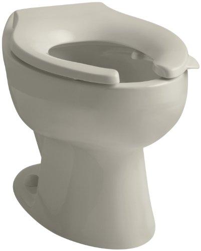 UPC 087206425134, KOHLER K-4349-L-G9 Wellcomme(TM) 1.6 gpf Flushometer Valve Elongated Toilet Bowl with Rear Inlet and Bedpan Lugs, Without Seat, Sandbar Sandbar