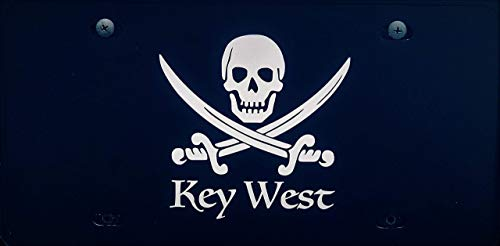 Custom Personalized Pirate Vanity Plate, Front License Auto Tag, Car Accessories, Key West Gift