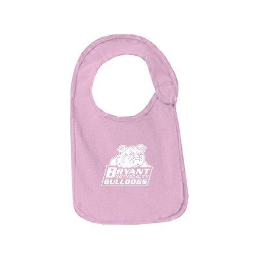 Bryant Light Pink Baby Bib 'Bryant Official Logo' by CollegeFanGear