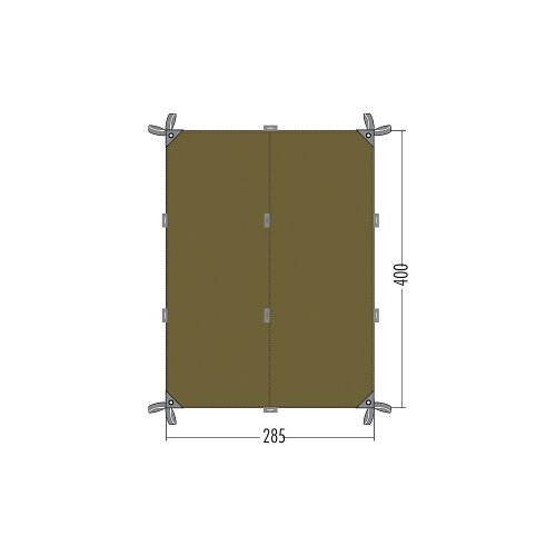 Tatonka Sonnensegel Tarp 4, Bazil, 285 x 400 cm, 2493