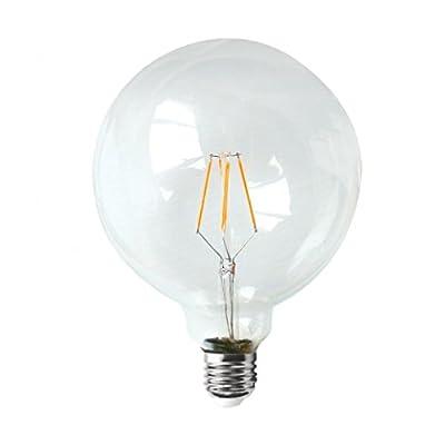 Splink LED Light Bulb Retro Edison Dimmable Filament Energy-Saving G125 Globe Bulb 4W=40W 2200K Warm White