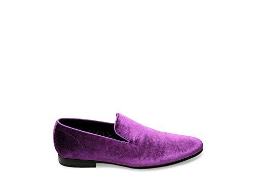 Steve Madden Men's Laight Purple Velvet Dress Closed 12 US