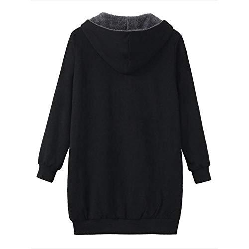 b342c07332439 Dimanul✿ Pea Coat Women Women Tops Plus Size Womens Winter Warm Outwear  Solid Hooded Pockets Vintage Coats Black Coat