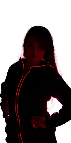 Light up Hoodies by Electric Styles (X-Large, Red)