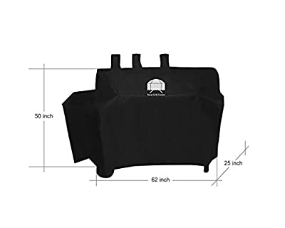 Texas Grill Covers for Char-Griller 8080 and Duo 5050 Gas-and-Charcoal Grill Including Brush and Tongs