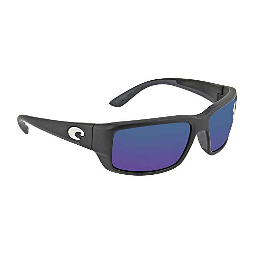 Costa Del Mar Fantail Sunglasses, Black, Blue Mirror 580 Plastic ()