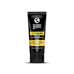 Beardo Ultraglow All in 1 Lotion for Men   Skin Brightening Face Cream   Dark Spot Reduction   Sunscreen SPF 30…