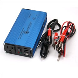 AIMS 180 Watt Pure Sine Car Power Inverter with Cables USB Port
