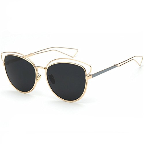 Z-P Women's New Style Fashion Metal Frame Color Film Lens Cat Ears Sunglasses - Cat Eyed Bug