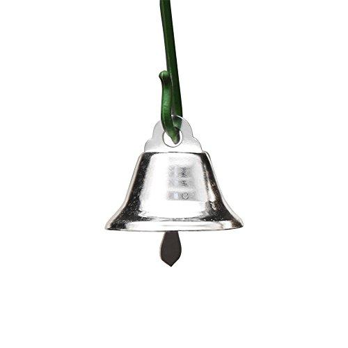 Gulin 10 Piezas de Campanas navideñas, Campanas de Acero Inoxidable Accesorios para Campanas de Viento, Campanas Pequeñas...