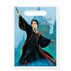 Harry Potter Wizard In Training 8 Count Party Supply Goody Loot Bag Treat (Movie Party Treat Sacks)