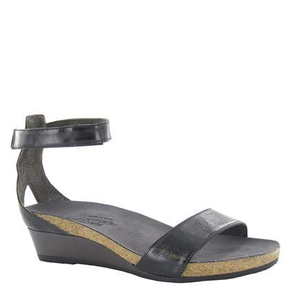 NAOT Footwear Women's Pixie Wedge Sandal Black Luster Lthr Combo 10 M US best supportive sandals for women