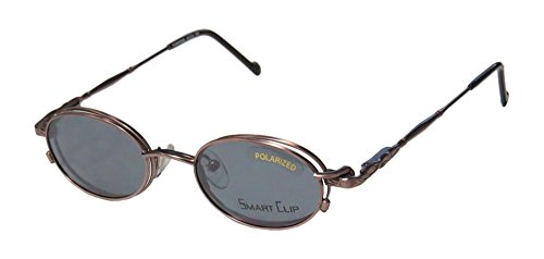SmartClip 221 Mens/Womens Oval Full-rim Sunglass Lens Clip-Ons Flexible Hinges Eyeglasses/Spectacles (44-19-140, - Sunglasses 221