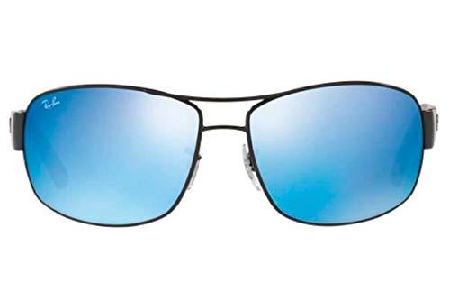 Óculos de Sol Ray Ban Rb3503l 006 55 64 Preto Fosco Espelhado Azul ... 86b9c9fae9