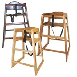 winco chh103 unassembled wooden high chair mahogany