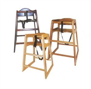 Winco CHH-104 Unassembled Wooden High Chair, - Stacking Restaurant High Chair
